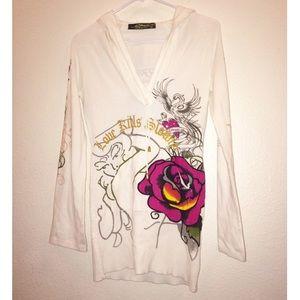 Gorgeous Ed Hardy Hooded Sweater Dress ✨